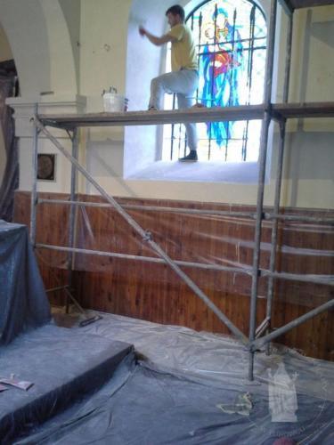 Prace przy kościele
