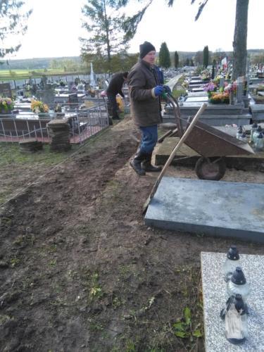 Prace na cmentarzu - IX-X 2017